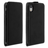 Avizar Etui iPhone XR Housse Clapet Vertical Protection Porte-carte Noir