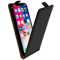 Avizar Housse iPhone X / XS Etui Clapet Rabat Vertical Porte-carte Noir Protection