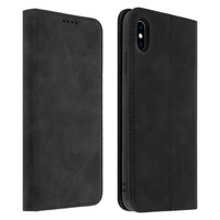 Avizar Housse Apple iPhone XS Max Étui Porte-cartes Support Stand Coque Silicone noir