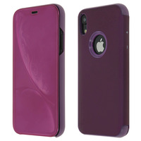 Avizar Housse Apple iPhone XR Etui Folio Miroir Ultra-fine Clapet Translucide - Violet