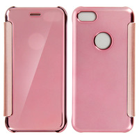 Avizar Etui Etui Miroir Rose iPhone 7 et iPhone 8 - Clapet translucide