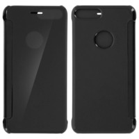 Avizar Housse Etui Folio Miroir Noir iPhone 7 Plus / iPhone 8 Plus Clapet translucide