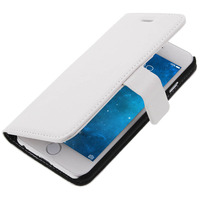 Avizar Housse Folio Portefeuille pour Apple iPhone 6 - Etui Clapet Support Blanc