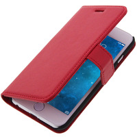 Avizar Housse Folio Portefeuille pour Apple iPhone 6 - Etui Clapet Support Rouge