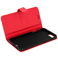Avizar Housse Clapet Portefeuille iPhone 7 Plus / iPhone 8 Plus Rouge