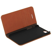 Avizar Etui Etui Clapet Portefeuille Cuir Marron iPhone 7 et iPhone 8