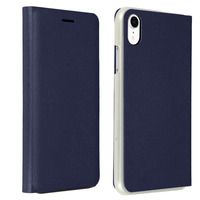 Avizar Housse Apple iPhone XR Étui Portefeuille Clapet Flip Cover Ultra-fin - bleu nuit