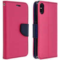 AVIZAR HOUSSE APPLE IPHONE X / XS ETUI PORTE-CARTE FONCTION STAND FANCY STYLE - ROSE