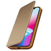 AVIZAR ETUI IPHONE X / XS HOUSSE FOLIO PORTEFEUILLE PROTECTION CLASSIC EDITION DORÉ