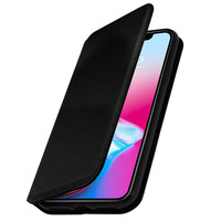 Avizar Etui iPhone X / XS Housse folio portefeuille protection Classic Edition noir