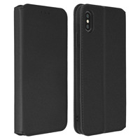 Avizar Housse Apple iPhone XS Max Etui folio Porte-cartes Fonction support - noir