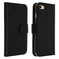Avizar Housse iPhone 7 / iPhone 8 Etui Clapet Porte carte Fonction support - noir