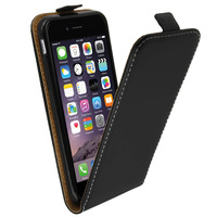 Avizar Housse Étui Clapet Ultra-fin Apple iPhone 6 / 6S - Protection Noir