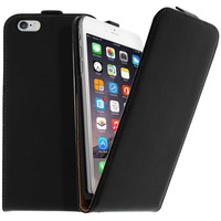 Avizar Housse Étui Clapet Ultra-fin Apple iPhone 6 Plus - Protection Noir
