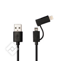 AZURI 2 IN 1 CABLE MICRO USB/LI