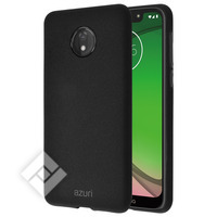 AZURI FLEXIBLE COVER SAND TEXTURE BLACK MOTOROLA G7 PLUS