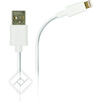 AZURI LIGHTNING DATA CABLE WHITE
