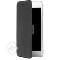 AZURI TRANSPARANT MAGNETIC WALLET CASE WITH 3 CARDSLOTS BLACK IPHONE 7