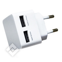 AZURI WALL CHARGER 2X USB