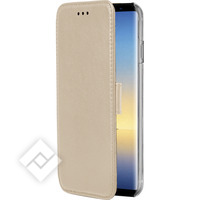 AZURI WALLETCASE - MAGNETIC CLOSURE & 3 CARDSLOTS - NOTE 8 GOLD