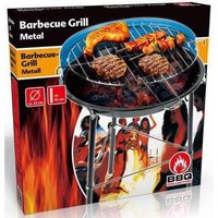 BBQ COLLECTION BBQ COLLECTION BARBECUE GRILL METAAL ROND Ø:33CM (BLAUW/ZWART)
