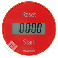 BRABANTIA MAGNETIC TIMER RED, Hotte