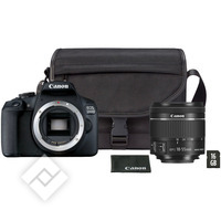 CANON EOS 2000D + EF-S 18-55MM IS II + BAG SB130 + SD 16GB