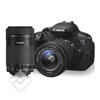 CANON EOS 700D + 18-55MM STM + 55-250MM STM KIT
