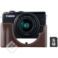 CANON EOS M100 + 15-45MM + LEATHER FACE JACKET + SD 16GB