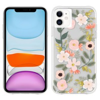 CASE MATE COQUE IPHONE 11 MOTIF WILD FLOWERS RIFLE PAPER CASE MATE - ROSE
