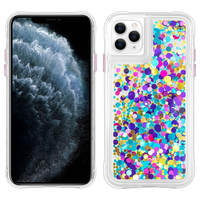 CASE MATE COQUE IPHONE 11 PRO PROTECTION COLLECTION CONFETTIS WATERFALL CASE MATE - VIOLET