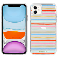 CASE MATE COQUE IPHONE 11 RAYURES HAPPY STRIPES RIFLE PAPER CASE MATE MULTICOLORE