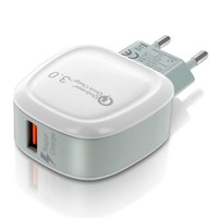 CLAPPIO CHARGEUR SECTEUR USB 3.1A QUICK CHARGER 3.0 CHARGE ULTRA-RAPIDE - BLANC