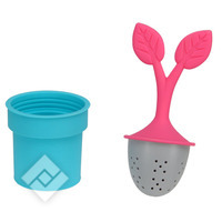 COFFEE CITY TEA INFUSER BLUE/PINK