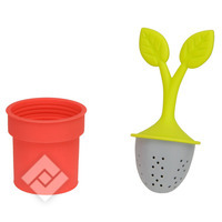 COFFEE CITY TEA INFUSER RED/GREEN