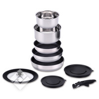 COOKY SET INDUC INOX 9P