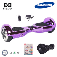 COOL&FUN COOL&FUN HOVERBOARD GYROPODE 6.5POUCES PURPER CHROME AFSTANDSBEDIENING + TRANSPORTTAS