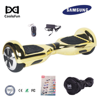 COOL&FUN COOL&FUN HOVERBOARD GYROPODE 6.5POUCES GOUDEN CHROME AFSTANDSBEDIENING + TRANSPORTTAS
