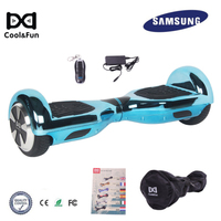 COOL&FUN COOL&FUN HOVERBOARD GYROPODE 6.5POUCES BLAUW CHROME AFSTANDSBEDIENING + TRANSPORTTAS