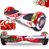 COOL&FUN COOL&FUN 6.5 POUCES ROUGE BLUETOOTH HOVERBOARD GYROPODE ELECTRIC SCOOTER, CHRISTMAS GIFT