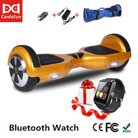 COOL&FUN HOVERBOARD, GYROPODE 6.5 POUCES OR + MONTRE CONNECTEE OFFERTE