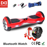 COOL&FUN HOVERBOARD, GYROPODE 6.5 INCHES ROUGE+ MONTRE CONNECTEE OFFERTE