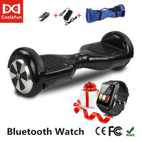 COOL&FUN HOVERBOARD, GYROPODE 6.5 INCHES NOIR + MONTRE CONNECTEE OFFERTE