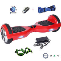 COOL&FUN COOL & FUN 6.5 INCH BLUETOOTH HOVERBOARD, GYROPODE ROUGE