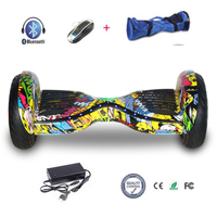 COOL&FUN  HOVERBOARD BLUETOOTH 10 POUCES HORSEBOARD HIP-HOP DESIGN FLASH LED