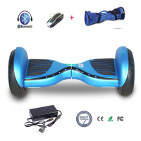 COOL&FUN  HOVERBOARD BLUETOOTH 10 INCH SMART SCOOTER HEMELSBLAUW FLASH LED