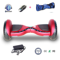 COOL&FUN  HOVERBOARD BLUETOOTH 10 POUCES HORSEBOARD ROUGE BORDEAUX FLASH LED