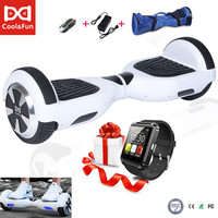 COOL&FUN  HOVERBOARD, GYROPODE 6,5 POUCES BLANC + MONTRE CONNECTÉE OFFERTE