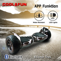 COOL&FUN HOVERBOARD GYROPODE APP&BLUETOOTH 8,5 POUCES VERT KAKI