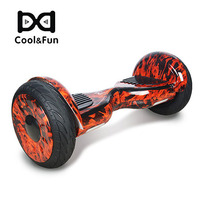 COOL&FUN  HOVERBOARD BLUETOOTH 10 POUCES HORSEBOARD ROUGE FLAME
